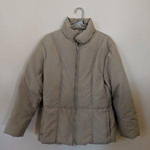 Beige SISLEY Puffer Jacket - size L